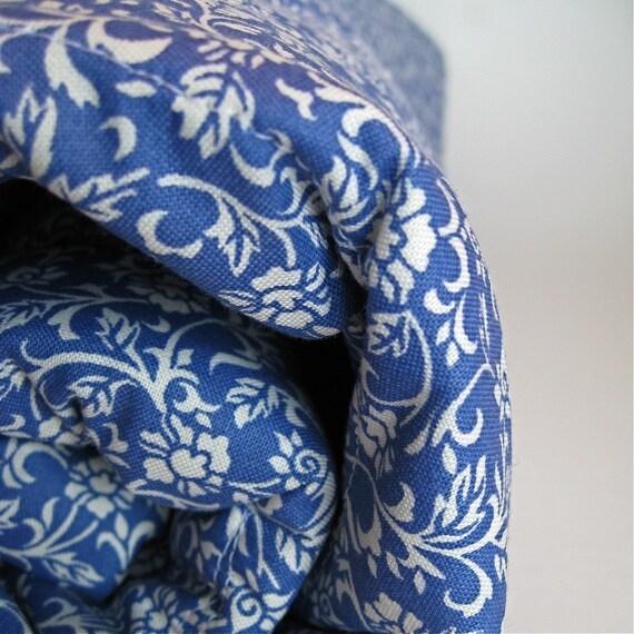organic baby quilt / eco friendly kids bedding in delft sapphire blueberry indigo blue (LAST ONE)