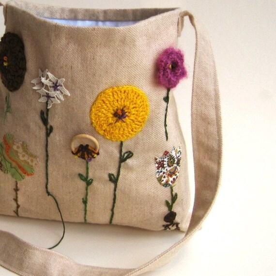 reserved for Rachel / organic kids messenger bag / hope in the autumn