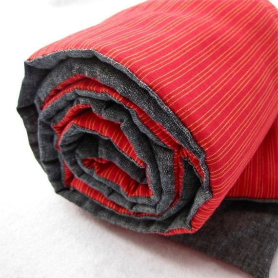 organic napmat toddler red stripes / modern eco friendly kids essential (LAST 1)