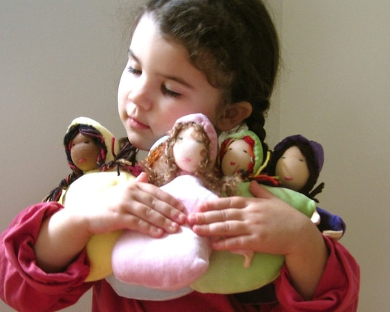 NEW organic waldorf doll / handmade eco friendly bunting cuddle toy (IN STOCK READY TO SHIP)