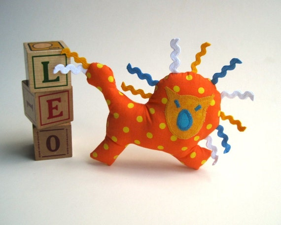 organic lion baby stuffed Leo toy / I roar but I'm such a natural softie for creative toddlers play
