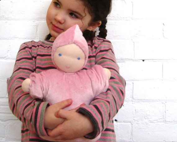 "Waldorf doll organic baby custom 12""  / eco friendly toy (made to order) kids children gift"