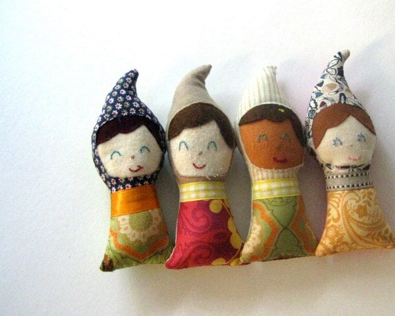 BABY DOLL toys gnome eco friendly / personalized gift OOAK