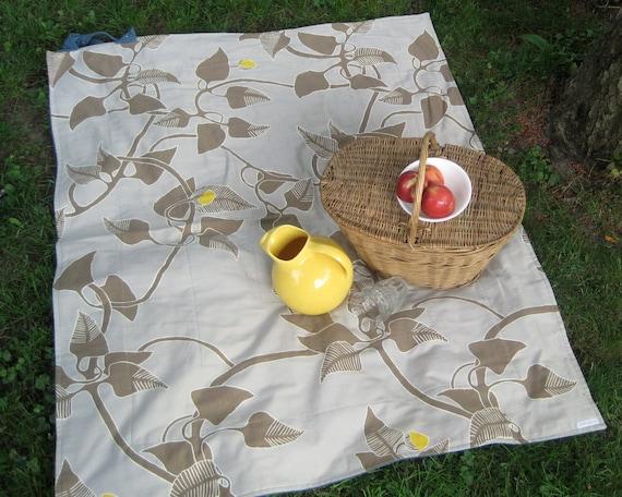 Picnic Blanket- Silver MARIMEKKO Picnic Blanket- Eco Friendly, Picnics, Gray, Summer- Wedding Gift