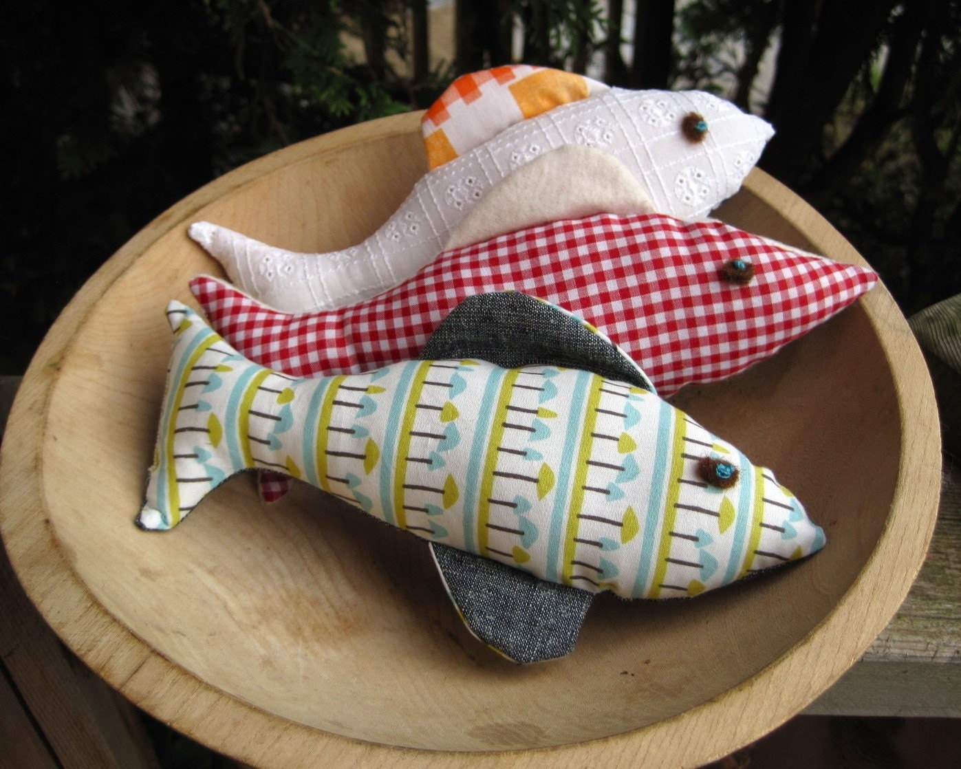 Upcycled Stuffed Fish Toys Stuffies Summer River House Decor