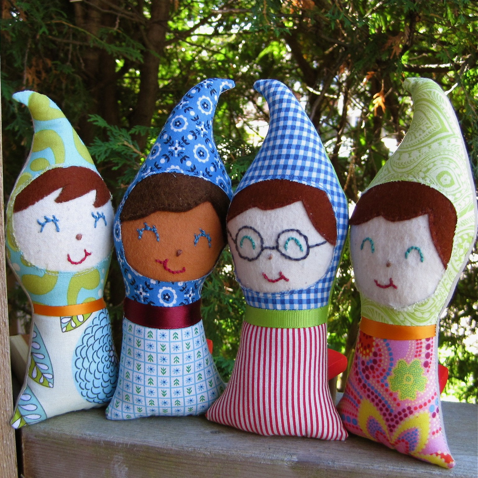 Baby Gnome: Gnome Baby Upcycled Dolls / Hand Embroidered Toys Stuffed