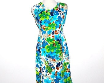 Vintage Dress 60s Tropical Mod