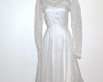 Vintage Wedding Gown 40s Lace