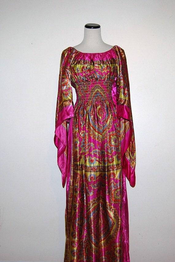 70s Hippie Psychadelic Dress