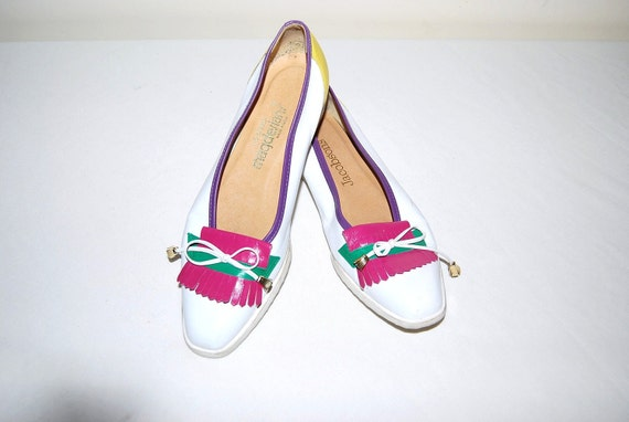 Vintage Shoes Retro Ballet with Tassels