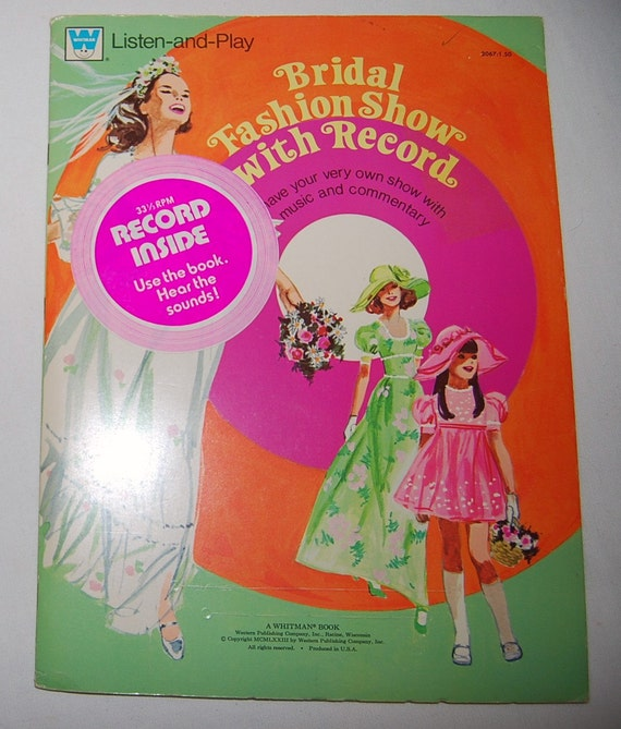 70s Bridal Fashion Show Paper Dolls with Record