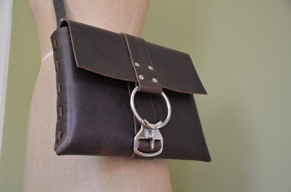 Handmade Brown Leather Messenger Bag