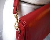 Lipstick Red Convertible Purse\/Clutch