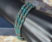Darkside of Ice, a handwoven bracelet set
