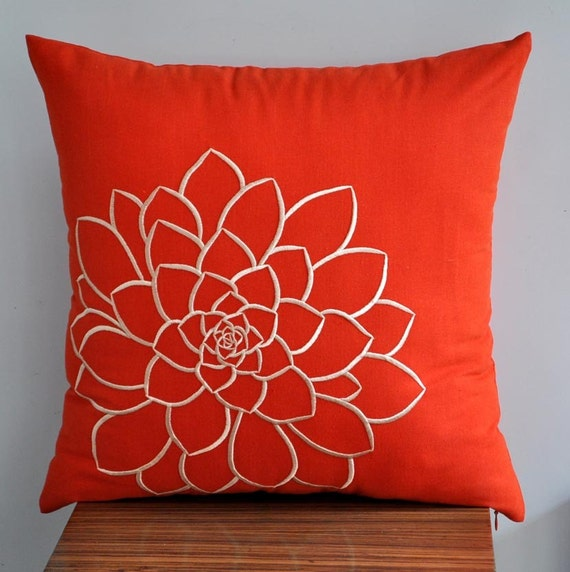 Orange Decorative Pillows Couch : Orange Pillow Cover Decorative Pillow Cover Throw Pillow