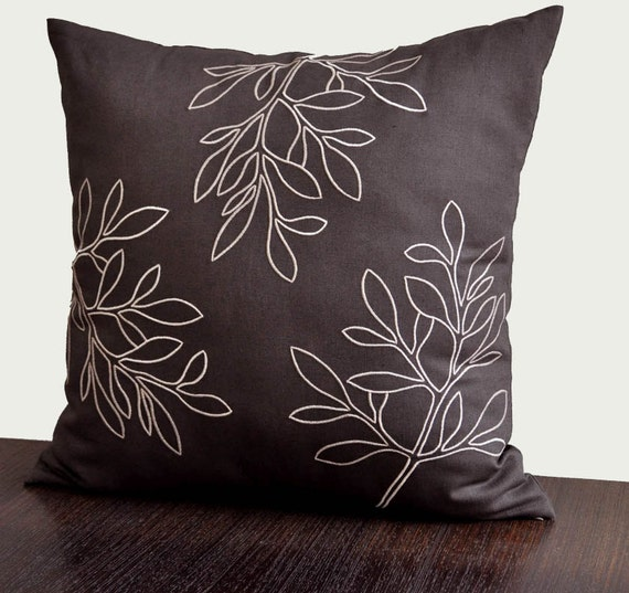 Leaves pillow cover decorative coverthrow by kainkain
