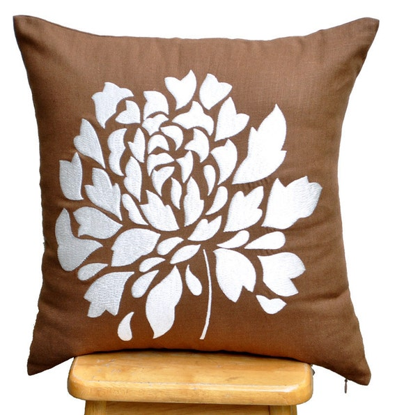 large off white decorative pillow for couch