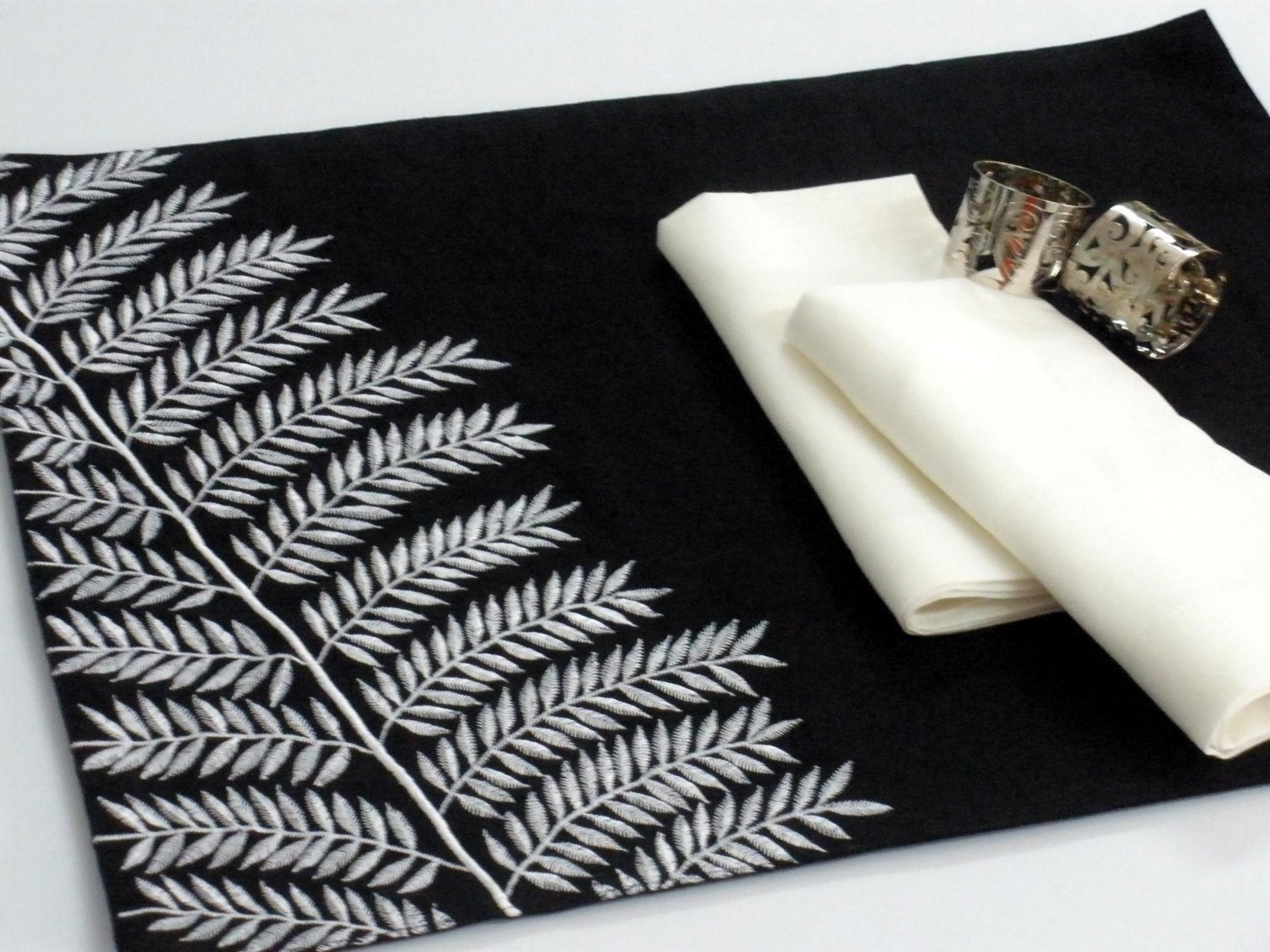 Placemats Black And White Placemat Linen Placemat Set By