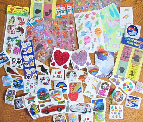 Huge Assorted Mixed Lot of Vintage Stickers Randomly Picked From My Entire Stock