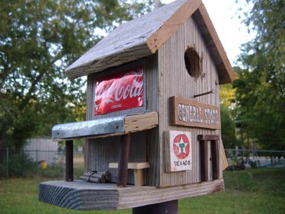 Old General Store Primitive Rustic Birdhouse