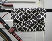 bike bag ... TopTube VeloPocket - black and white WITH SHOULDER STRAP