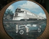 Plate, collectors plate, Vintage plates, Taking the High Road,Classic American train plate