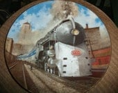 Plate,  collector plates, The Silver Bullet, Classic American Trains plates