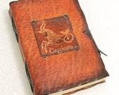 Capricorn Zodiac Signs Leather Journal.