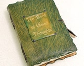 Green  Book of Good Thoughts Leather Journal.