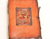 Lisces Horoscope Leather Diary.