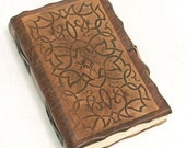 Brown Medieval Ornament leather journal.