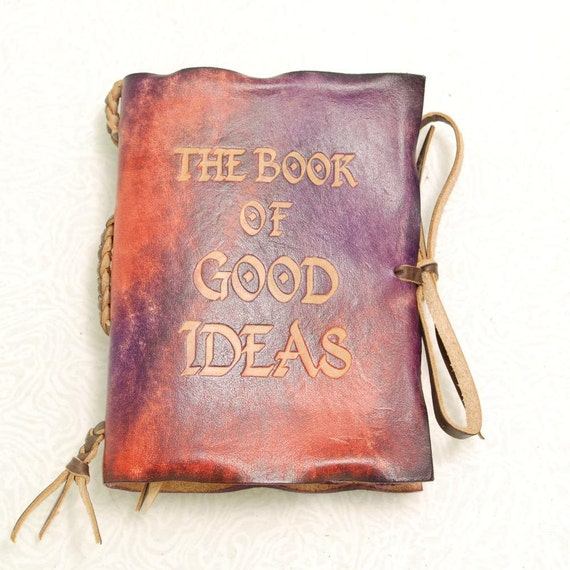Colorful  Book of Good Ideas.Leather Journal.