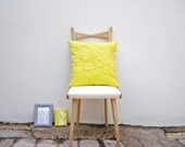 Fresh, summery, 'Puffy Scribble' cushion (46 cm square)