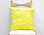 RESERVED for LKanes......YELLOW  'Puffy Scribble cushion'
