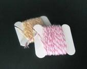 DESTASH Twine, Pink Cotton Candy 5 yards