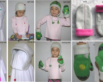 PDF Pattern - Children's, teen's, and adults' winter hat and children's mittens, Create your own, ALL SIZE Listing