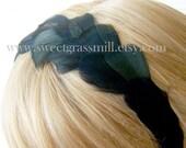 Black Feather Headband - NOIRLUXE Feather Crown