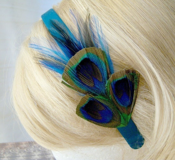 The Blue Chanteuse - Peacock Headband
