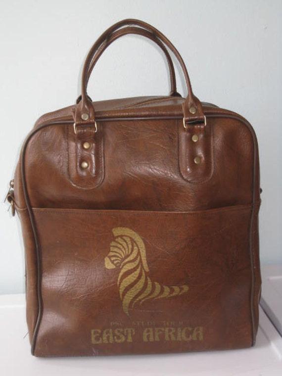 VTG 70s Africa handbag/Traveler Bag TOTE BIG