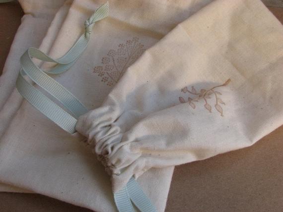 Cotton Drawstring Bags- Trees