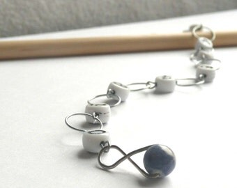 Blue Sodalite - Number Chain - Knitting Row Counter