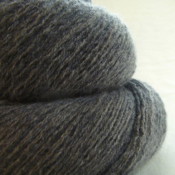 Gray Cashmere Recycled Lace Weight Yarn
