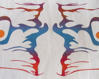 Earth God's Fiery Laughter  Limited edition serigraph,  artist printed, artist signed in pencil