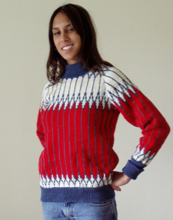 Red, White, & Blue Woman's Sweater or Child's Large