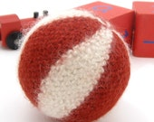 Baby Ball. Soft Plush Baby Toy. Red and White.