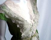 Vintage Lace Silk Top