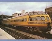Milwaukee Road Railroad Skytop Lounge Observation Car Hiawatha Train 1970s Vanishing Vistas Photo Card