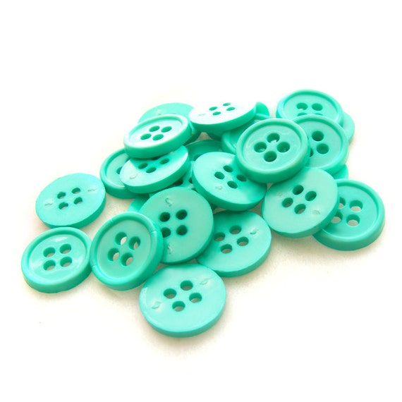 Set of 20 Classic Crafty Buttons - Teal