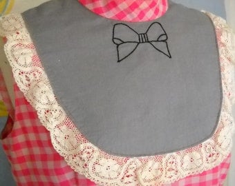The Shirley - Handmade Hot Pink Gingham Bow Top