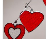 Heart and Love Stained Glass Hanging Mobile